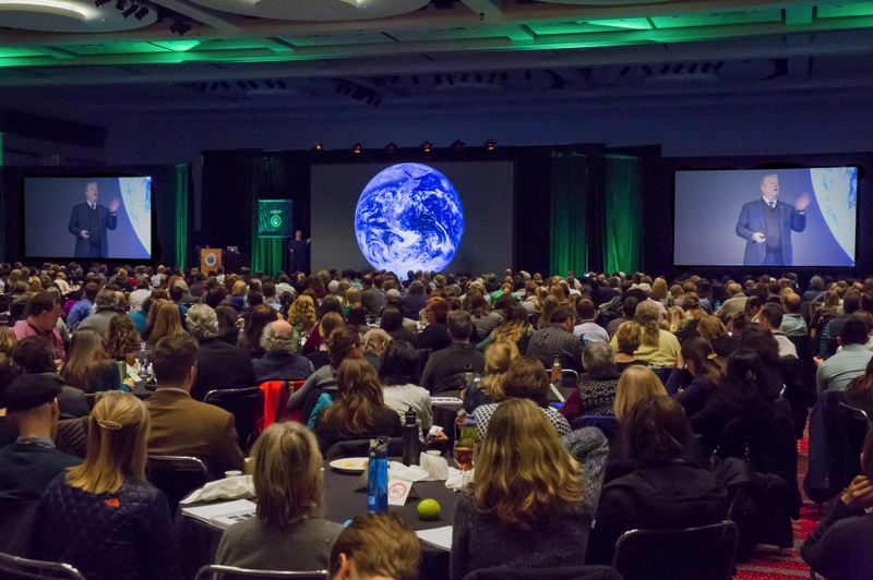 COURTESY: CLIMATE REALITY PROJECT - Former VIce President Al Gore speaks at a Climate Reality Project training in Denver. Former Oregon Secretary of State Bill Bradbury was one of the first activists to be trained by Gores nonprofit, and has since delivered more than 500 presentations to educate the public about climate science.