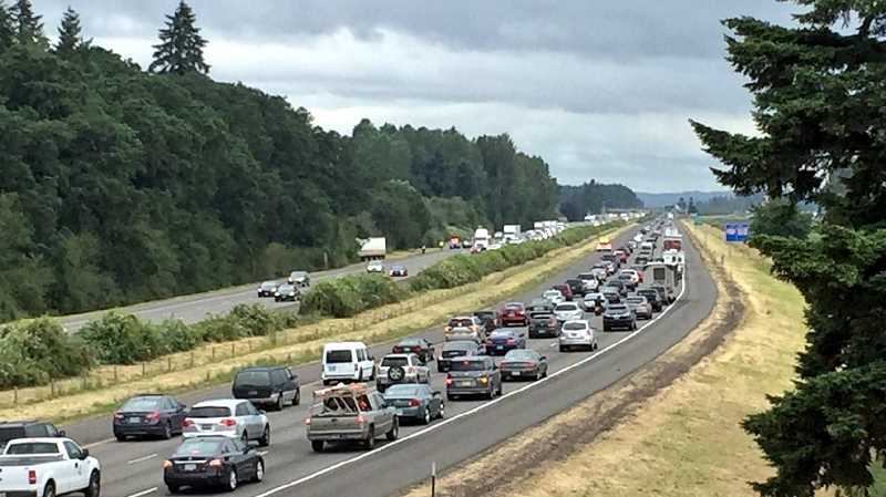 WEB IMAGE - The project will replace badly rutted pavement on 12.5 miles of I-5, from milepost 271.5 in Woodburn to milepost 283 at the Boone Bridge at Wilsonville.