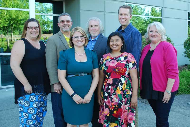 PHOTO COURTESY OF HILLSBORO SCHOOL DISTRICT - The Hillsboro School District Board of Directors met for the first time in the 2017-18 school year, including four new members, on July 11.