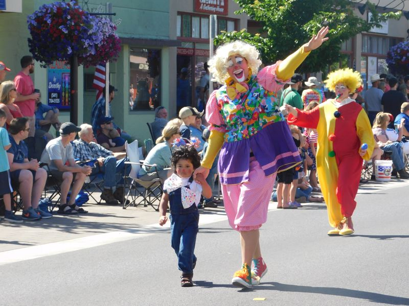 ESTACADA NEWS PHOTO: EMILY LINDSTRAND - The Estacada Fourth of July parade attracted clowns of all ages.