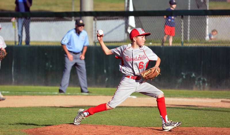 TIMES PHOTO: MATT SINGLEDECKER - Raleigh Hills pitcher Jake Lairson was exceptional on the mound in the D4 title game.