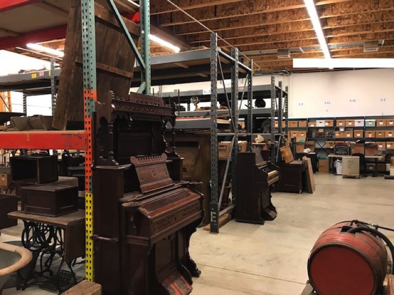 COURTESY PHOTO - Artifacts curated by the Washington County Museum are stored in a warehouse on Portland Community College's Rock Creek Campus.