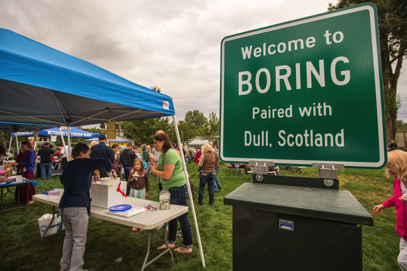 FILE PHOTO - Boring, Oregon, and Dull, Scotland, were declared 'a pair for the ages,' in 2012. Boring & Dull Day is a state-recognized holiday celebrating that relationship.