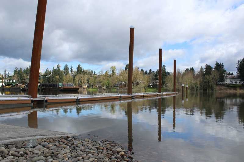 TIDINGS FILE PHOTO - The City is expected to wrap up the last of the work on the boat ramp within two weeks.
