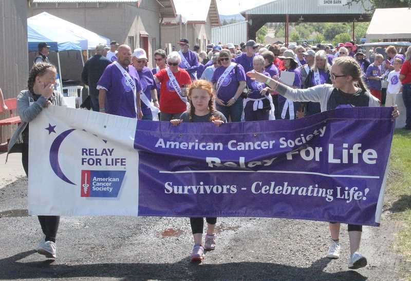 FILE PHOTO - Last year's Relay For Life Survivors' Lap takes off at the Jefferson County Fairgrounds. This year's event begins with a Survivors' Lap at 10 a.m. Saturday, July 15.