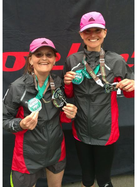COURTESY: ADVENTIST HEALTH PORTLAND - Vicki Classen (left), who is about to attempt her 100th marathon, gets support and companionship from her daughter, Emillie Niblack.