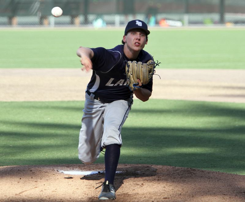 REVIEW FILE PHOTO - Lake Oswego sophomore pitcher Alex Giroux won a place on the Class 6A all-state second team after previously being named Three Rivers League Pitcher of the Year.