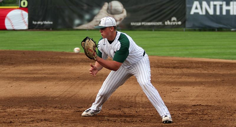 TIDINGS FILE PHOTO - West Linn senior first baseman Jake Porter won a place on the Class 6A all-state first team after previously being named Three Rivers League co-Player of the Year.