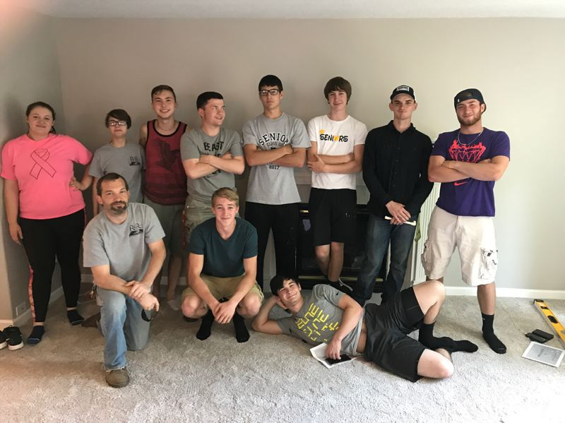 PHOTO COURTESY OF THE ST. HELENS SCHOOL DISTRICT - Students in the Renovation and Remodel class at St. Helens High School spent the entire 2016-17 school year working on projects at a home on Boulder Court in St. Helens. The home was completed and placed on the market last week.