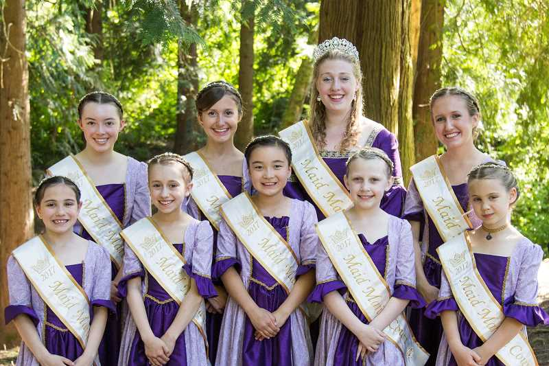 COURTESY OF MADELINE GARLAND - The Maid Marian Court will be among the featured attractions for the Robin Hood Festival's annual parade set Saturday.