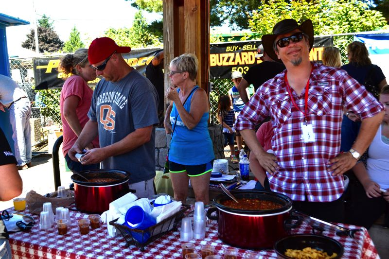 POST PHOTO: BRITTANY ALLEN - Five people competed to see who cooked the best chili in Sandy on Sunday, July 9.