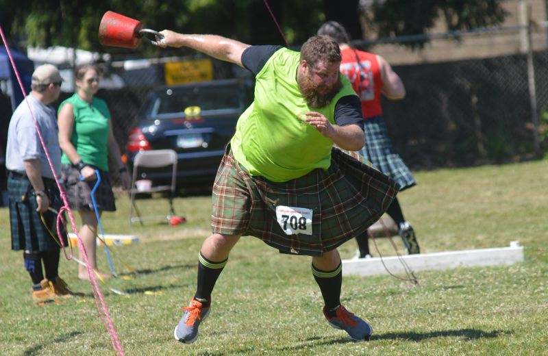 OUTLOOK PHOTO: CLARA HOWELL - The highland heavy athletics are Scottish games that take place during the Portland Highland Games event.