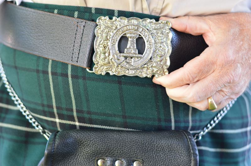 OUTLOOK PHOTO: CLARA HOWELL - Jim McClean wears traditional Scottish attire to represent Clan MacLean.