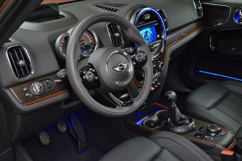 BMW OF NORTH AMERICA - Interior materials in the 2017 Mini Countryman are all top notch, and the design mixed conventional and unconventional touches.