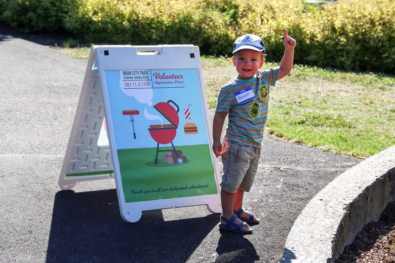 CONTRIBUTED PHOTO: CITY OF GRESHAM  - A young child enjoys the appreciation picnic at Main City Park in Gresham.