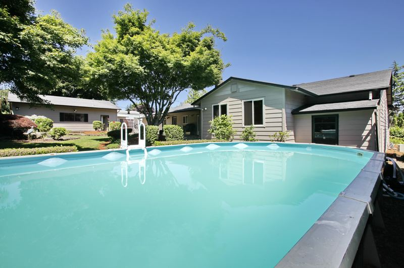 CONTRIBUTED - A above-ground pool is 16 by 32 feet square, and drops down to six feet in the deep end.