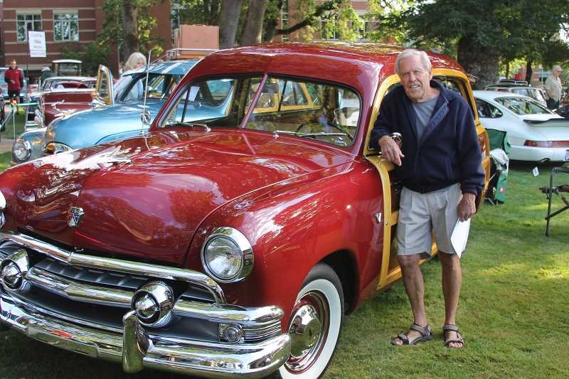 PAMPLIN MEDIA GROUP PHOTO: JOHN SCHRAG - Philip Hoefer of Lake Oswego brought his 1951 wood-bodied Ford Country Squire to the show, and took home a second-place ribbon.