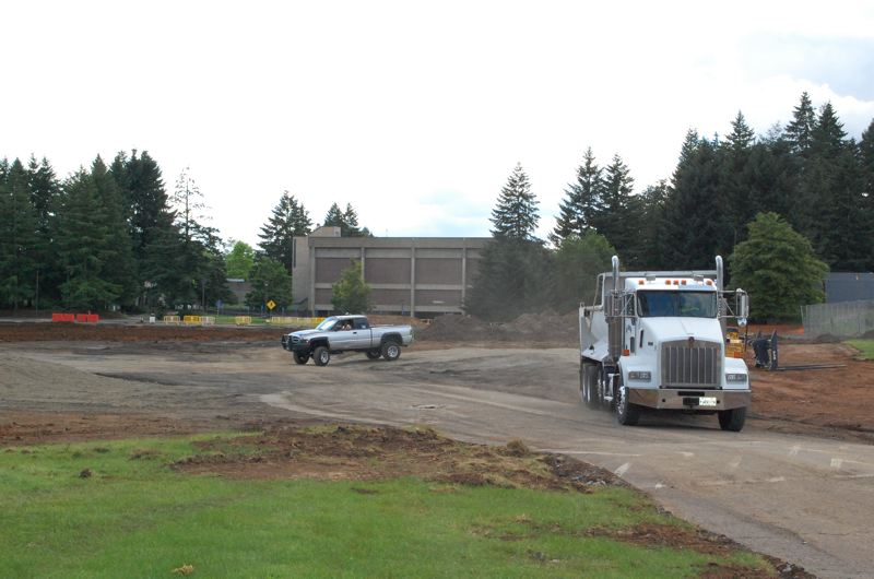 PHOTO BY: RAYMOND RENDLEMAN - Construction has begun on the Clackamas Community College Industrial Technical Center expected to be completed in fall of 2018.