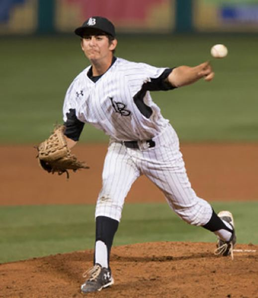 CONTRIBUTED PHOTO - GreyWolves pitcher Zak Baayoun made a team-high 31 appearances out of the bullpen during Long Beach States run to the Super Regionals during the NCAA season.