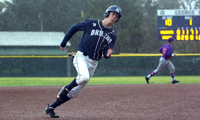 COURTESY GEORGE FOX ATHLETICS - Rain or shine, Lake Oswego grad Matt Voelzke was there for the George Fox baseball team in 2017, winning first-team all-conference honors as well as the regional Rookie if the Year award.