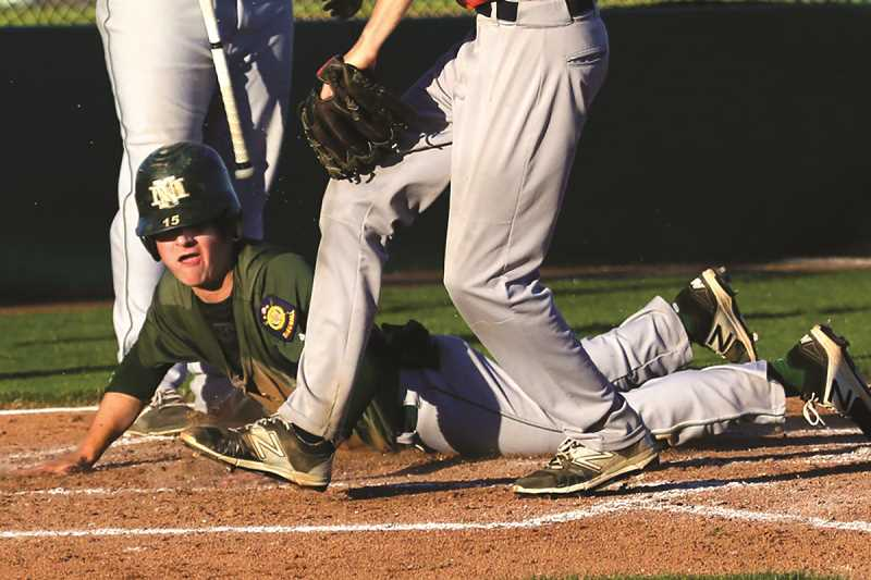 JO WHEAT - North Marion's Noah Vachter is one of a few incoming seniors on the North Willamette Valley Legion team.