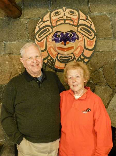 ESTACADA NEWS PHOTO: EMILY LINDSTRAND - George and Colleen Hoyt have been collecting Northwest coastal art for four decades.