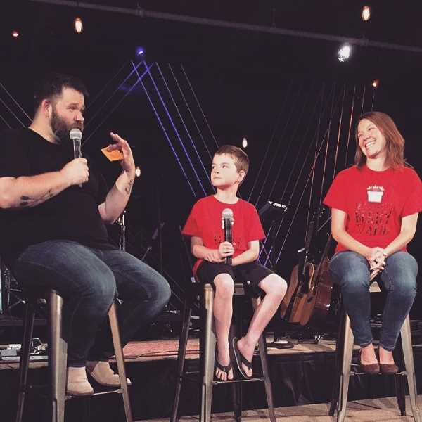 SUBMITTED PHOTO - Brayden Arsenault recently shared his story at Grace Chapel in Wilsonville.