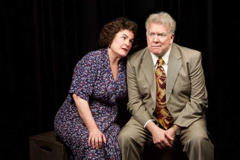 CRAIG MITCHELLDYER/BROADWAY ROSE THEATRE COMPANY  - Sharon Maroney as stage mother Rose in 'Gypsy' has an on-again/off-again relationship with Herbie, played by her real-life husband Dan Murphy. Ironically, they will celebrate their 30th wedding anniversary during the show's run.