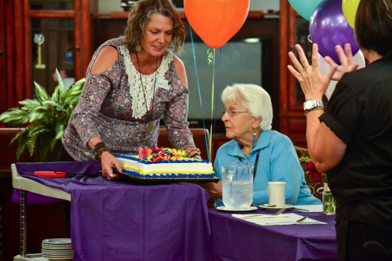 POST PHOTO: BRITTANY ALLEN - Alma Rinear celebrated her 101st birthday with Avamere staff and residents on Monday, July 17.