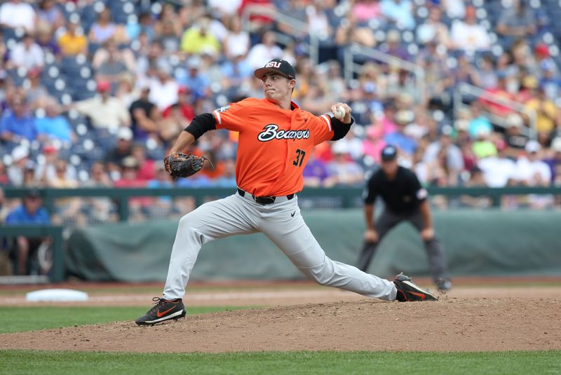 TIMES FILE PHOTO - Oregon State left-handed pitcher Brandon Eisert made an immediate impact for the Beavers coming out of the bullpen during his freshman season.