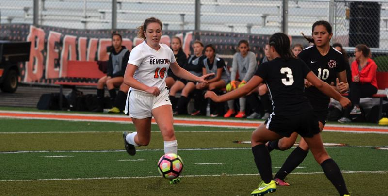 TIMES FILE PHOTO - Beaverton girls soccer player Annie Wahlin figures to be one of the Beaver girls players next season under the guidance of new head coach Jen Hull.
