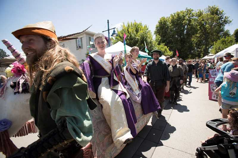 PAMPLIN MEDIA GROUP: JAIME VALDEZ - The Sherwood Renaissance Singers escort Maid Marian's Court.