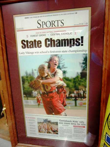 COURTESY PHOTO - The 2007 Forest Grove softball state champions are one of the honorees being inducted into the FGHS Hall of Fame later this year.