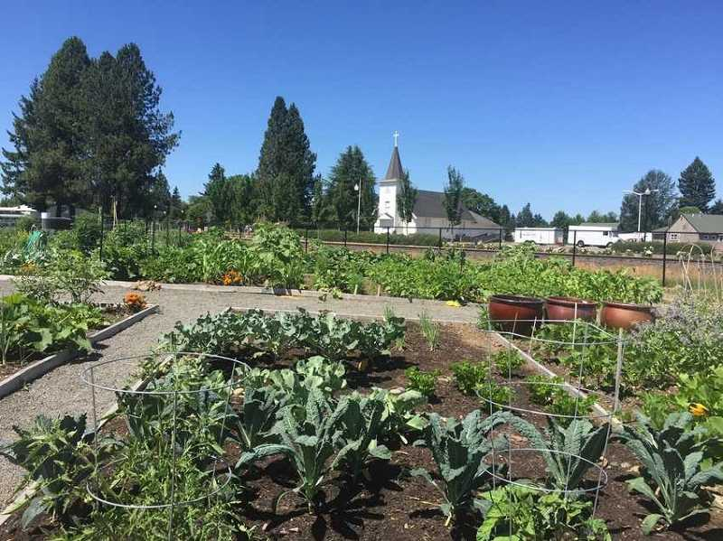 COURTESY OF METRO - An online article written by Metro uses Sherwood as an example of how enhancement grants help cities with community projects, in this case, Sherwoods community garden next to the fire station.