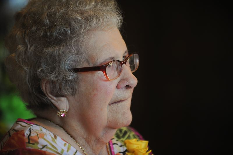OUTLOOK PHOTO: JOSH KULLA - Gresham resident Marguerite Inman celebrated her 100th birthday with a large family gathering.