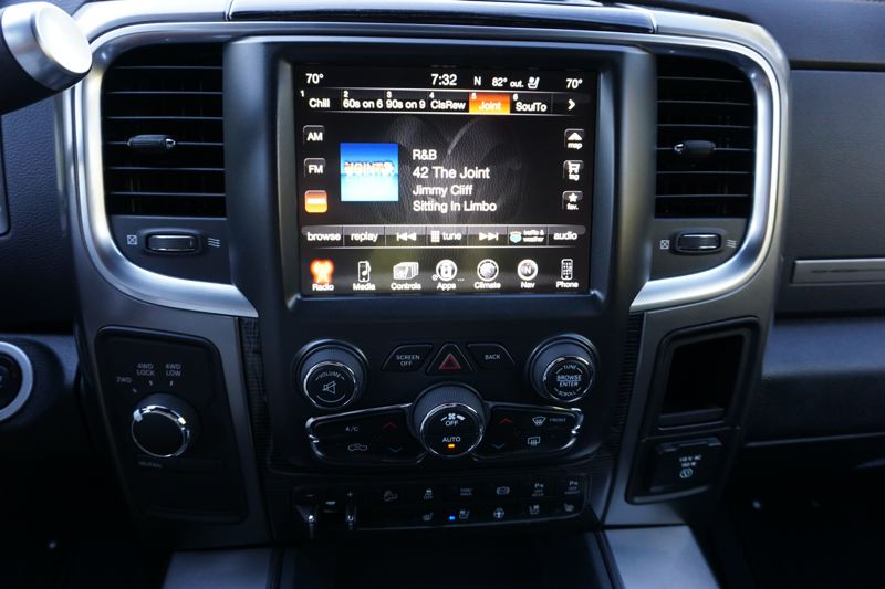 PORTLAND TRIBUNE: JEFF ZURSCHMEIDE - The infotainment command center in the Ram includes an 8.4-inch touchscreen interface with voice control, navigation, a full set of music player capabilities, Ram's Uconnect system, and Bluetooth hands-free phone support.