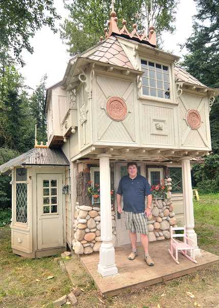 SPOKESMAN PHOTO: VERN UYETAKE - Troll Lodge has vintage windows from England and was built to be mobile for a future relocation.