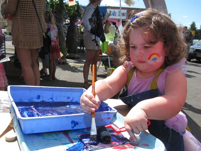 CONNECTION FILE PHOTO - Multnomah Arts Center's Kids' Zone offers craft projects ranging from painting to woodworking to clay building.