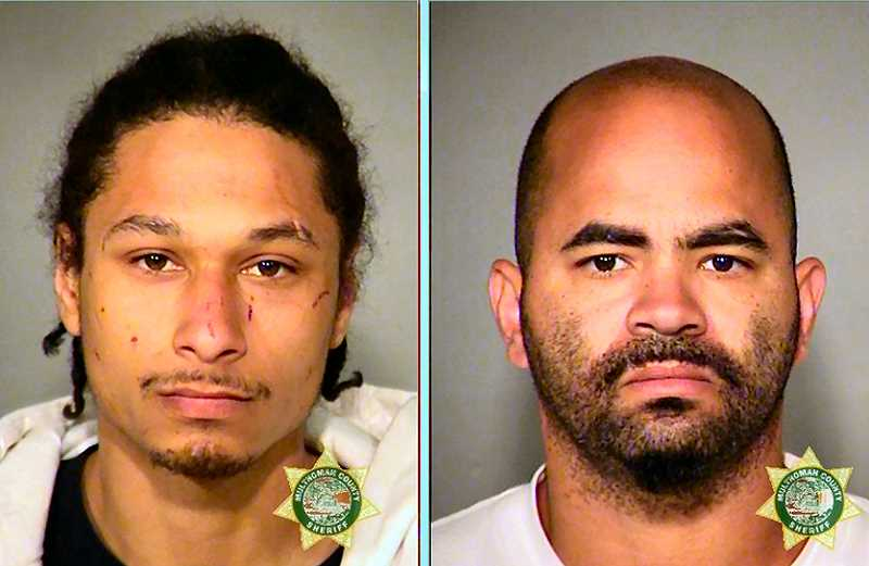 MCDC ARCHIVE BOOKING PHOTOS - Arrested in Los Angeles for felony robbery and other charges was 27-year-old Jesus Mezick, at left. Also now in custody is 33-year-old Jamaar Abdul Smith, at right, who likewise faces felony robbery charges in connection with this crime.