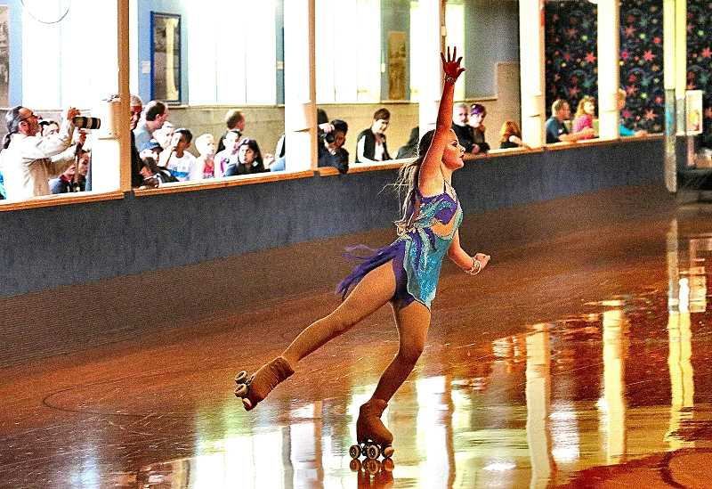 DAVID F. ASHTON - Although relatively new to competitive roller figure skating, Makayla Simonelic performs like a pro while participating in the 2017 Northwest Region Roller Figure Skating Championships in Sellwood.