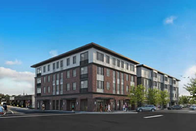 ARTISTS RENDERING SUPPLIED BY THE CITY OF CANBY - The latest architect's rendering of what the Dahlia Building will look like when completed in downtown Canby sometime next year.
