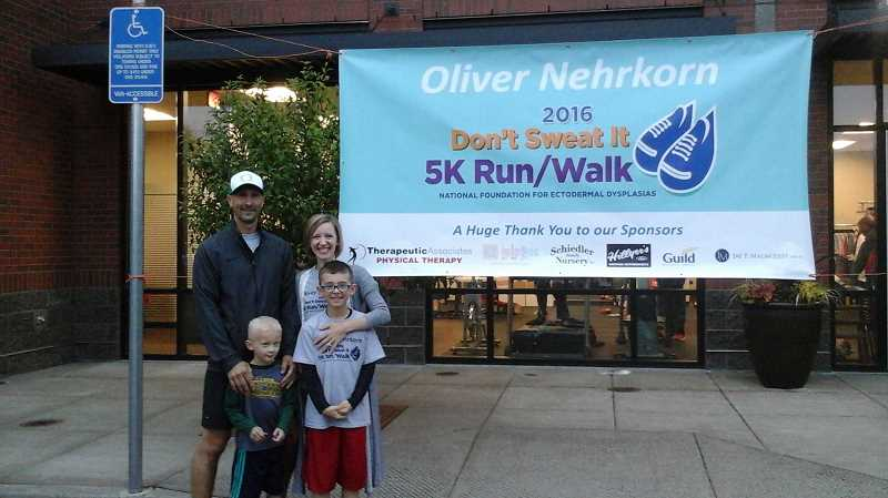 SUBMITTED PHOTO - Oliver Nehrkorn and his family hope to raise money and awareness about ectodermal dysplasias, a rare group of disorders he's battled his whole life.