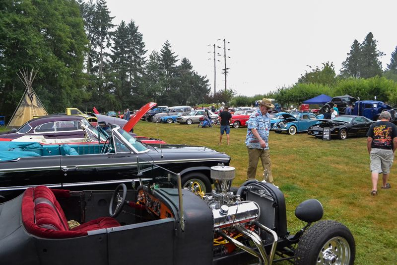 POST PHOTO: BRITTANY ALLEN - Cars of all shapes, sizes, makes and models made it to McKinnon Airpark on Sunday, July 23.
