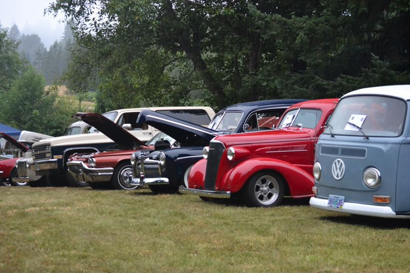 POST PHOTO: BRITTANY ALLEN - There was a rainbow of retro vehicles on display.