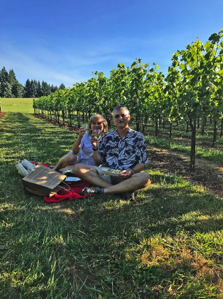 CONTRIBUTED  - Friends of the Lorentson family have enjoyed visiting Alder Tree Vineyard for years. Now the family plans to open the option to enjoy wine and the grounds to all.