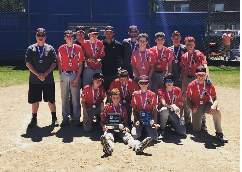PHOTO COURTESY OF JOSHUA MCRAE - Oregon City finished in third place and earned the sportsmanship award during the July 20-23 JBO Senior National state tournament in Hillsboro.