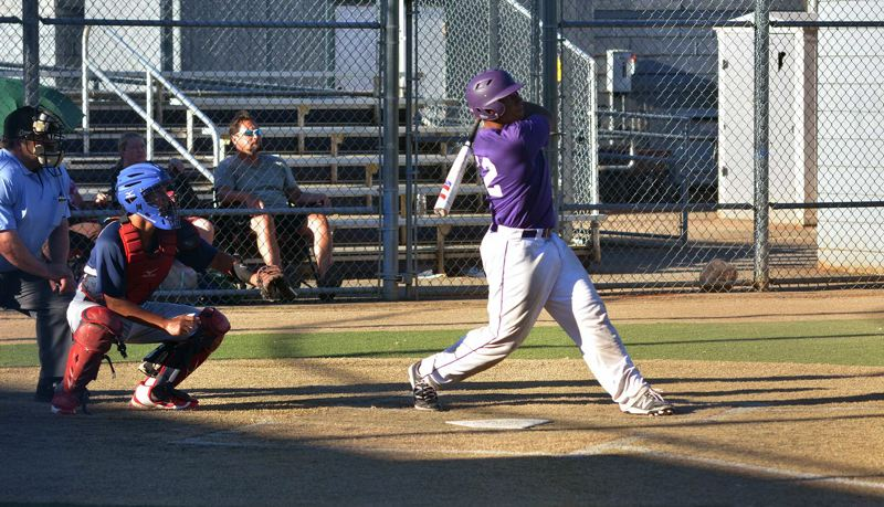 TIMES PHOTO: MATT SINGLEDECKER - Sunset catcher senior Isaac Lovings bagged four RBIs against Westview including a huge three-run triple to blow the game open.