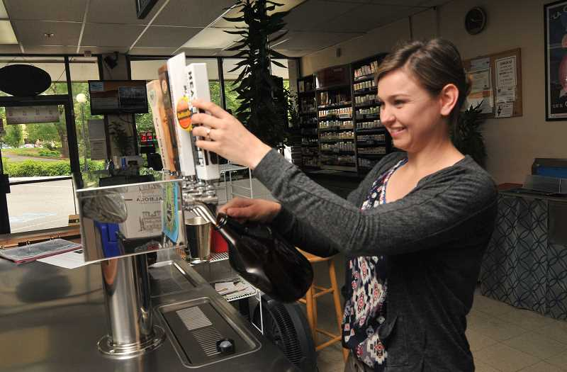 Samira and Mark Wirtala wanted to own a mom-and-pop grocery store, and have added touches of their own, including a growler station to serve beer.