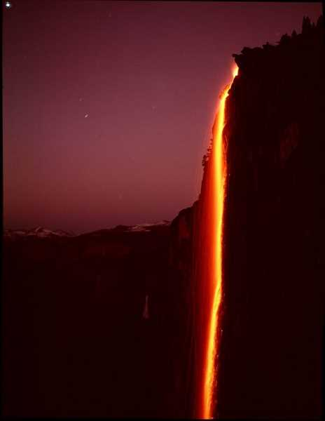 SUBMITTED PHOTO  - The nightly Firefall at Yosemite National Park was a highlight of camping trips to the park for Esther Halvorson-Hill.