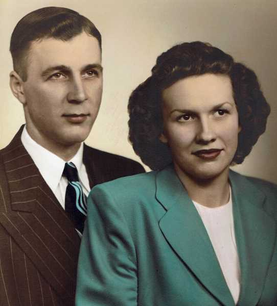 SUBMITTED PHOTO  - Wilbur and Betty Bruck celebrated 70 years of marriage this month.